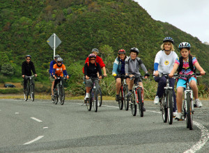 Cyclists on Miramar Peninsula