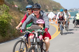 Families on the Miramar Ciclovia (Photo: Shailie Pidcock)