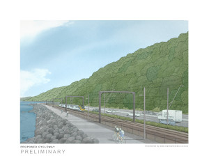 Visualisation of Petone to Ngauranga cycle/walkway